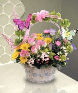 Butterfly Kisses Basket