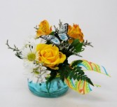 Butterfly Landing Flower Arrangement