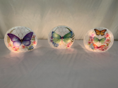 Butterfly Lighted Decorative Glass Gift Items