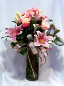 BUTTERFLY PINK  - Floral Arrangements Roses and Lillies Arrangements