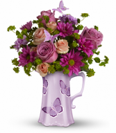 Butterfly Pitcher Bouquet