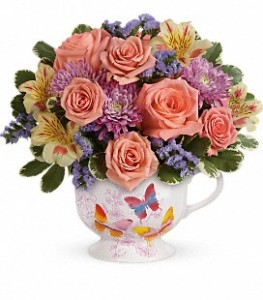 Butterfly Sunrise mug arrangement