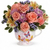 Butterfly Sunrise Mug Floral Bouquet