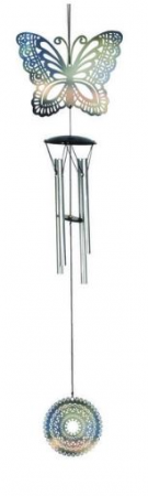 Butterfly Wind Chime metal/metallic
