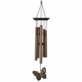 Butterfly Windchime Wrapped Gift