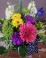 Buttons and bows Vase arrangement