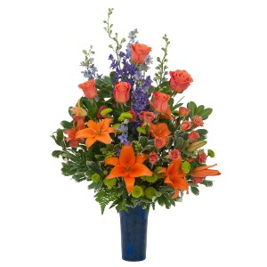Bye Bye Blues Arrangement in Naugatuck, CT | TERRI'S FLOWER SHOP