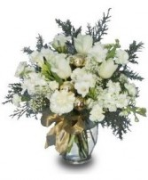 SNOWY WHITES  Floral Arrangement