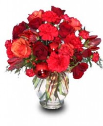 HOLIDAY REDS Flower Vase