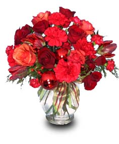 HOLIDAY REDS Flower Vase