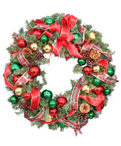 FESTIVE HOLIDAY WREATH Christmas Gift  in Crawfordville, FL | Front Porch Creations Florist