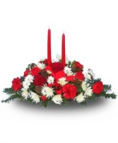 HOLIDAY CENTERPIECE of Fresh Flowers