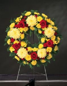 remembrance wreath standing funeral wreath