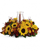 Sunflower Fall  centerpieces