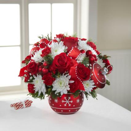 Season's Greetings Ornament Bouquet- 16-C5