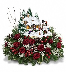 "C158   ""SOLD OUT"" Thomas Kinkade's Winter Wonder by Teleflora"