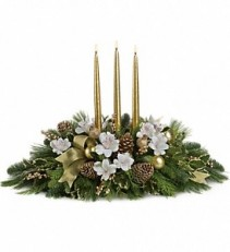 C169 Golden Christmas Centerpiece