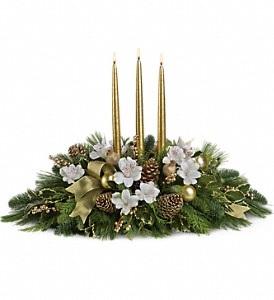 C169 Golden Christmas Centerpiece