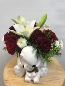C175 ON SALE starting at $34.95 Teleflora's Send a Hug Cuddle Bears Bouquet