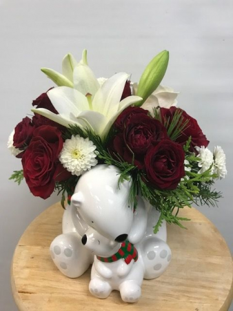 C175  Teleflora's Send a Hug Cuddle Bears Bouquet