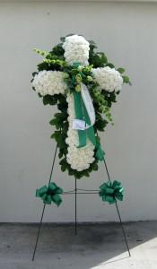 C2 White carnation Cross