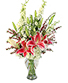 Charismatic Crimson Floral Arrangement