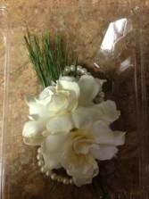 Elegant White Gardenias Wristlet