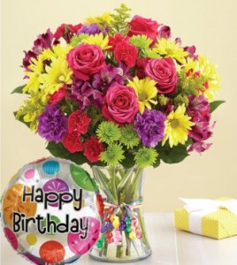 Happy Birthday bouquet **Free Happy Birthday Balloon & Small Chocolate** in Vancouver, BC | ARIA FLORIST