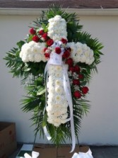 C8 White Cross w/ Red rose break