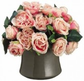 Cabbage Rose Arrangement-SILK BOTANICAL