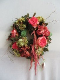 Cabbage Rose Silk Wreath Silk Wreath