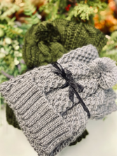 Cable Knit Infinity Scarf & Hat Set
