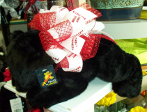 Cabot Panther Plush with Bow