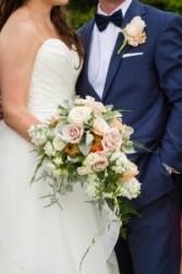 Caitlin's Coral Cascade Bride's Bouquet Abloom Original