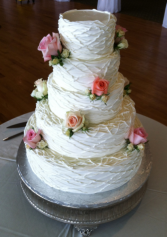 Cake flowers wedding