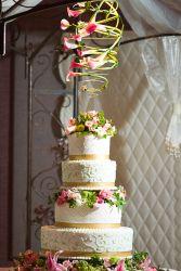 Cake Flowers Wedding Cake