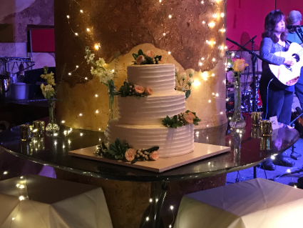 Cake Flowers  Wedding Reception