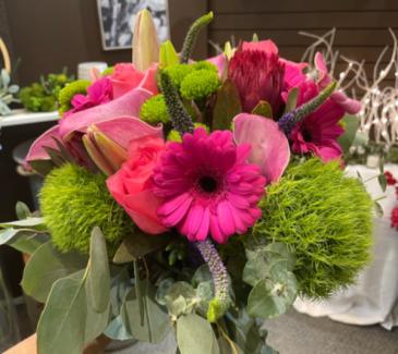 Cala lilies & roses Wedding Bouquet