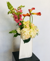 Cala Lily And Rose Arrangement