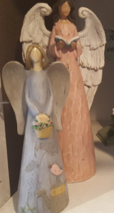 CALL TO SEE WHICH ANGELS ARE AVAILABLE CAN BE PLACED IN PLANTERS OR DELIVERED ALONE