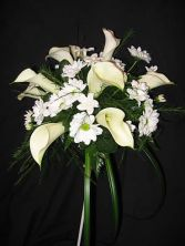 Calla Lily and Daisy Bouquet Posy Style