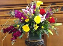 Calla Lily Garden Cube Vase