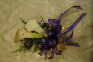Calla Lily Glitz Corsage in Richland, WA | ARLENE'S FLOWERS AND GIFTS