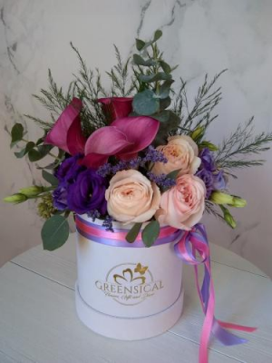 Calla Lily Lavender Hugs    in Delray Beach, FL | Greensical Flowers Gifts & Decor