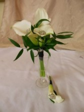 CALLA LILY NOSEGAY AND BOUTONNIERE PROM FLOWERS