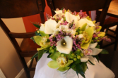 calla lily & orchid bridal bouquet