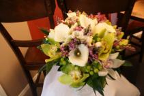 calla lily & orchid bridal bouquet