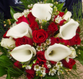 Calla lily Red Rose bouquet