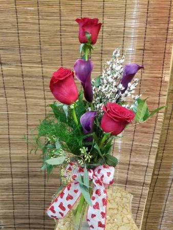 Calla lily Rose arrangement