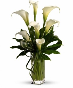 Calla Me Anytime  arrangement